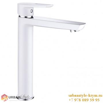 BRECLAV cмеситель для раковины/кухни высокий, хром/белый, 35мм