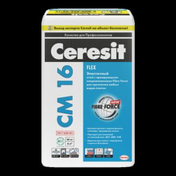 Ceresit СМ 16 Flex. Эластичный клей для любых видов плитки