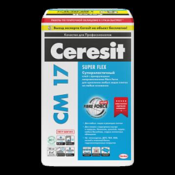 Ceresit СМ 17 Super Flex. Эластичный клей для наружных и внутренних работ