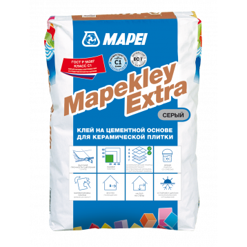 MAPEKLEY EXTRA, клей серый на цементной основе для керамической плитки